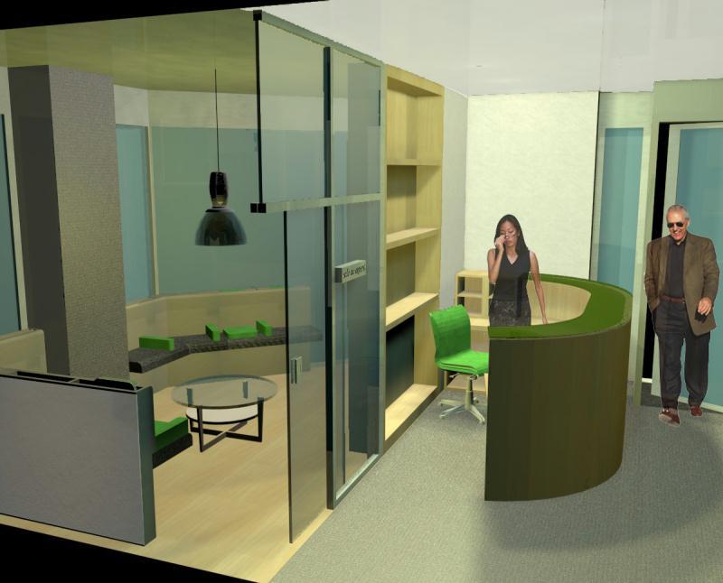 Espacios de paso sala de espera y recepcin espacios vives for Diseno decoracion espacios