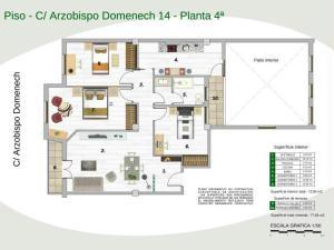 Plano de piso en el alquiler en el centro de Zaragoza