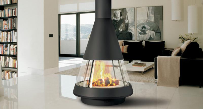 chimeneas decoracin o climatizacin espacios vives. Black Bedroom Furniture Sets. Home Design Ideas